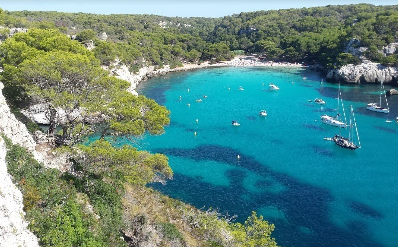 Menorca playas de españa en autocaravana