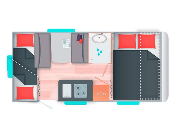 Caravana caravelair Alb a 426 Family - Imagen 3